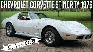 Chevrolet Corvette Stingray 1976 em detalhes