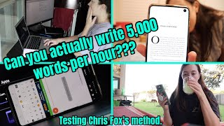 """TESTING OUT CHRIS FOX'S """"WRITE 5,000 WORDS IN AN HOUR"""" METHOD // a writing experiment vlog"""