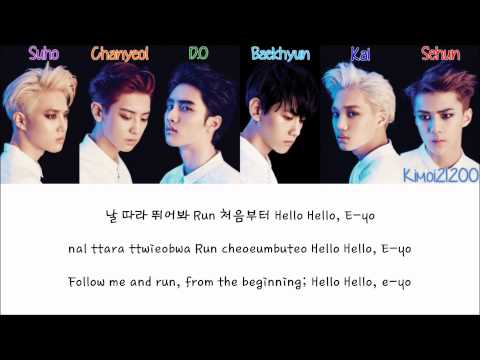 EXO-K - Run [Hangul/Romanization/English] Color & Picture Coded HD