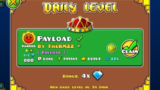 Geometry Dash [2.1] | Daily Level 09/02/17 | Payload by TheRM22 (3 coins)