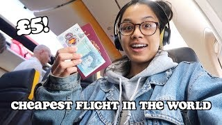 i went on the cheapest flight in the world - only £5!   clickfortaz