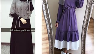Trendy Modest Full Coverage Dresses For Muslim Girls With Hijab/fashion Look For Teenagers