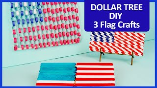 3 Easy DIY Flags From The Dollar Tree—Fourth Of July Crafts