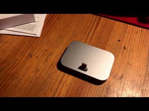 Apple iPhone Lightning Dock Silver für iPhone 7 / Kopfhörer nutzen und laden unboxing und Anleitung