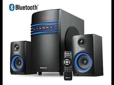 Мультимедийная акустическая система 2.1Real-El M-550 Black  (Обзор и распаковка).