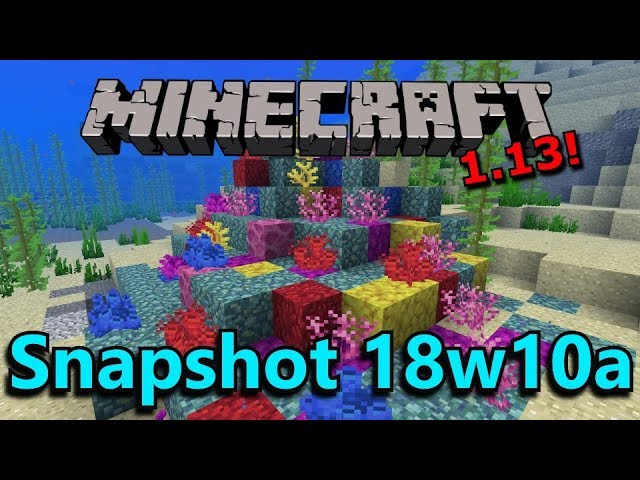 Minecraft 1.13 Snapshot 18w10a- TROPICAL FISH, MAP MARKERS, BURIED TREASURE!