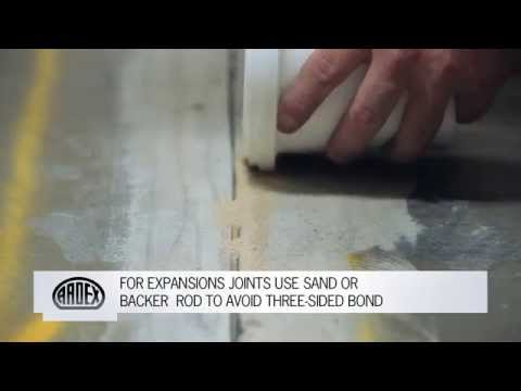 ARDEX Concrete Crack Repair Range - Warehouse Control Joint Repair with ARDEX RA 54 & RA 56