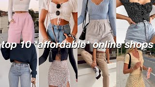 10 online stores to find AFFORDABLE *super cute* clothing (BEST places to shop online for teens)