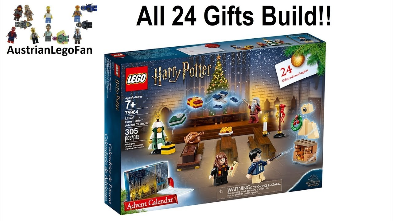Lego Harry Potter 75964 Advent Calendar 2019 - Lego Speed Build Review