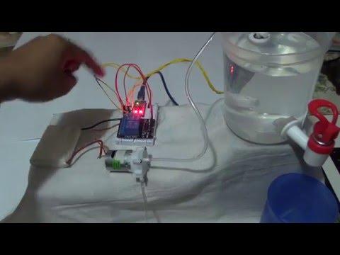 Uso del sensor de NIVEL DE LIQUIDO y una MINIBOMBA