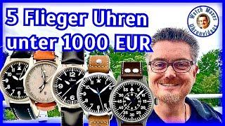 5 Fliegeruhren unter 1000 EUR | Deutsche Uhrenmarken