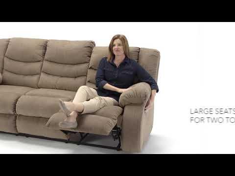 Tulen 9860488 Mocha Reclining Sofa