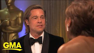 Brad Pitt on best supporting actor win l GMA