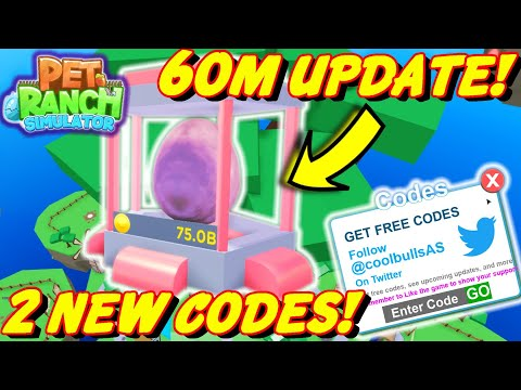 🐾PET RANCH SIMULATOR | *NEW* 60M Update| 2 NEW CODES | Tier 9 Egg - 8 New Pets + Shinies!🐾