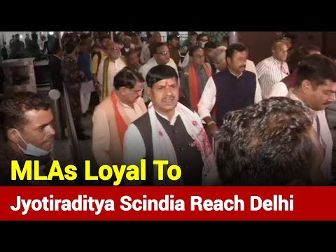 MLAs Loyal To Jyotiraditya Scindia Reach Delhi, Here's What They Said | News Nation