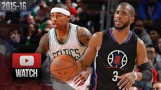 Chris Paul Vs Isaiah Thomas PG DUEL Highlights (2016.02.10) Celtics Vs Clippers - AMAZING!