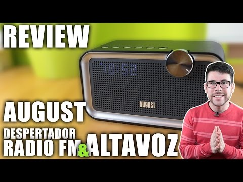 August SE55 Altavoz Bluetooth con Radio FM y Despertador | Review en Español