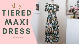 DIY Tiered Maxi DRESS | No Pattern Sewing Tutorial