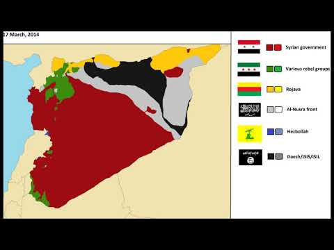 The Syrian Civil War, every day