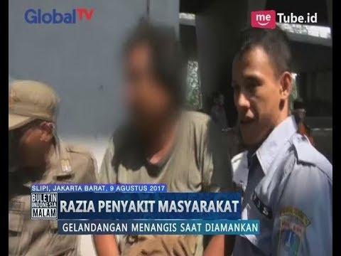 Razia Lokasi Mesum, Seorang Gelandangan Menangis Saat di Bawa Petugas - BIM 10/08