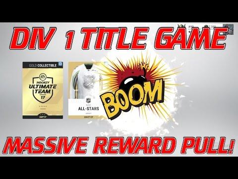 I DID IT AGAIN?!  - Div 1 Title Game - NHL 17