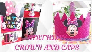 Birthday Crown DIY / Minnie Birthday Caps And Crown~  生日皇冠