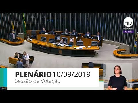 Plenário - Sessão de votação - 10/09/19
