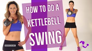 How to do a Kettlebell swing by BodyFit By Amy