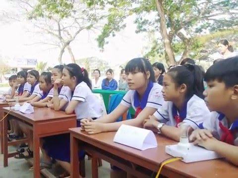 Trường Tiểu học C Nhơn Mỹ - Tham gia hoạt động ngoại khóa tại trường THCS Mỹ Luông, tháng 4 năm 2015