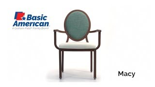 Basic American Macy Stack Arm Chair Youtube Video Link