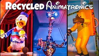 Top 10 Recycled Disney Animatronics Ft DisneyDan!