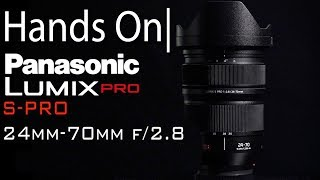 PANASONIC LUMIX S PRO 24-70mm F2.8 L-Mount Interchangeable Lens| Hands On with Rob Adams