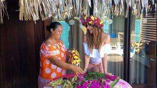 How 2 Make A Tahitian Flower Crown!