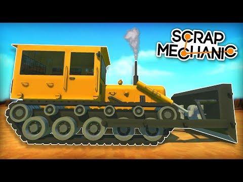 This Bulldozer Has Actual Tank Tracks! - Scrap Mechanic Creations