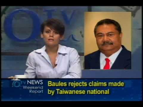 Baules Rejects Claims Made by Taiwanese National