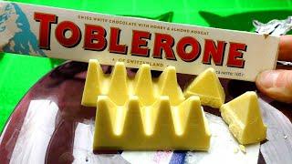Тоблеро́н Элитный Швейцарский шоколад Toblerone Швейцарский  шоколад Toblerone.  Нас уверяют что Тоблеро́н это Элитный шоколад сделанный в  Швейцарский и производится с незапамятных времен.  Давай, попробуем эту элитную шоколадку и
