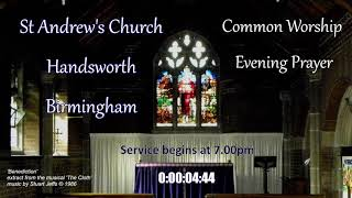 St Andrew's Common Worship Evening Prayer – Wednesday 30th June 2021 – 7.00pm