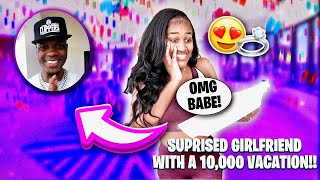 SURPRISING MY GIRLFRIEND WITH A $ 10,000 ANNIVERSARY TRIP!!!😍