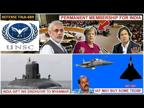 Indian Defence News:UNSC Permanent Membership For India?,IAF may Buy Some TEDBF in Future,Brahmos Ex