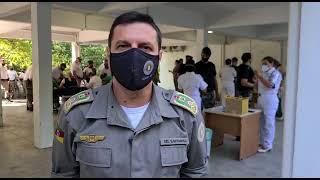 Vacinação dos Policiais Militares da BM