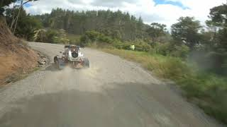 Rallysprint Car Chased by FPV Race Drone