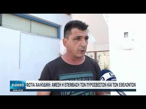 Άμεση επέμβαση εθελοντών για την κατάσβεση των πυρκαγιών στη Χαλκιδική | 12/8/2021 | ΕΡΤ
