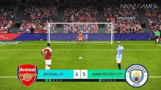 ARSENAL vs MANCHESTER CITY | Penalty Shootout | PES 2018 Gameplay PC
