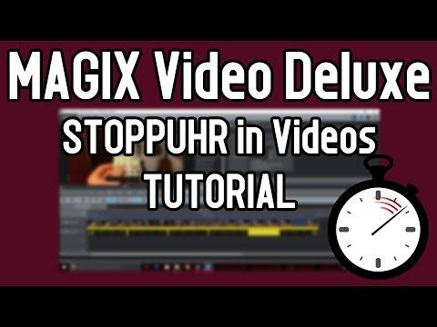 MAGIX Video Deluxe Pro Tutorial STOPPUHR einfügen | Timecode vorwärts und rückwärts laufen lassen