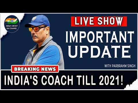 Ravi Shastri to be India's Coach Till 2021!  | BIG DECISION | Live Reaction