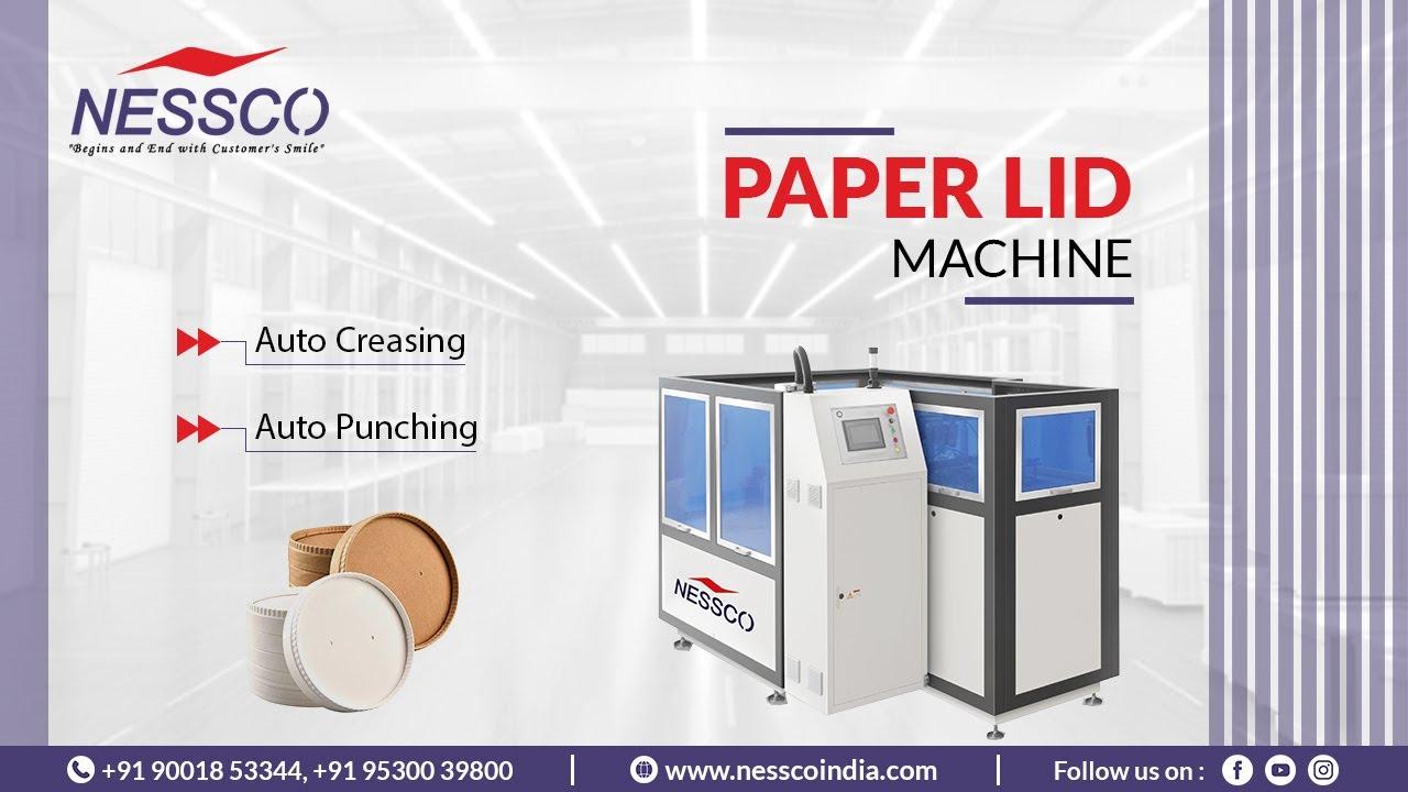Paper Lid Making Machine (60 Pcs/ Min)      Paper Lid in Making