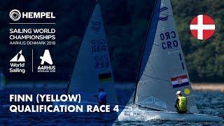 Full Finn Yellow Fleet Qualification Race 4 | Aarhus 2018