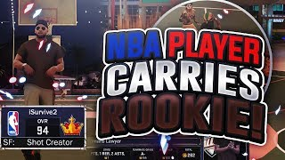 PRO BASKETBALL PLAYER HELPS ROOKIE REP UP!! THE SAD LIFE OF A ROOKIE ON NBA 2K17
