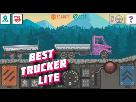I play Best Trucker Lite transferring oil to a plastic factory on a new truck