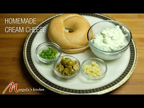 Homemade Cream Cheese Recipe by Manjula